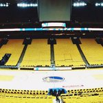 #WarriorsGround is ready. 14 hours until #DubNation takes over » http://t.co/gl9IQ26LAk http://t.co/79yYCFJguh