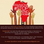 Lets stand together as one. Together we stand, divided we fall. No to Xenophobia. Play your part http://t.co/FnlsJ8BcNP