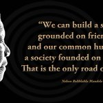 """""""We can build a society grounded on friendship&our common humanity–a society founded on tolerance"""" #SayNoToXenophobia http://t.co/TYqTRDoVB2"""