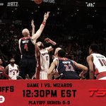 Its @BMO Raptors Game Day! Game 1 of Raptors - Wizards tips off in Toronto at 12:30 PM #BMOGetLoud #WeTheNorth http://t.co/K8hxfz1o2k