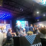 Maimane steps up to podium. He starts by singing a song and shouting amandla #DAWC http://t.co/wSvp5Fw3ZP