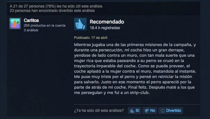 la experiencia de Carlitos con GTA V http://t.co/veUei88bKw