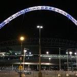 Reading fan Tom made a round trip to @wembleystadium last night to capture the arch in blue and white! #WembleyRoyals http://t.co/bATPCWZvAq