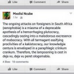 """True ????????""""@i_Delvis: LMFAO He Prolly Just Saying """"Stop Xenophobia"""" RT @Thu_ways: the smartest guy has spoken... http://t.co/lNklLOCECf"""""""