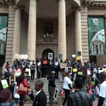 The Silent march against xenophobic attacks has reached the Gauteng Legislature #sabcnews http://t.co/C9NRW1ffuG