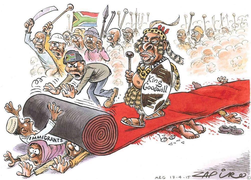 #Zapiro Here comes 'that' King. #NoToXenophobia http://t.co/pYY13IWyty