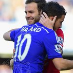 PIC: Juan Mata returns to Stamford Bridge as a United player for the first time. #mufclive http://t.co/PT9vfS3TDE