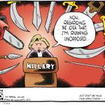 Great #HillaryClinton & the media cartoon by Tom Toles @washingtonpost. HT @pmartin_UdeM http://t.co/afODEmlt6p