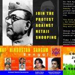 RT @jagdishshetty: @Swamy39 's VHS Bengal @vhsindia holding Protest against snooping on Netaji by Nehru on Sun 19thApr at 1pm at Kolkata ht…