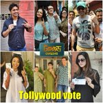 RT @OnlineTollywood: Tollywood votes :) Exclusive VOTE CLICKS of the tollywood stars today at kolkata municipal election 2014 :)