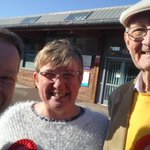 Paul,George & Laura out in Oakridge Village on a sunny Saturday afternoon.#labourdoorstep #voteforPaul #George4norden http://t.co/WPvEuH8b4D