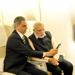 On his last day in office,outgoing MEA spokesperson Syed Akbaruddin clicks selfie with an indulgent PM Narendra Modi http://t.co/zrE5jeg7gf