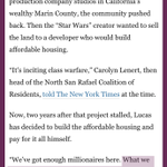 I love this: George Lucas decides best use of his land & money is lots of affordable housing. http://t.co/uQSfGL4Ng8 http://t.co/6M3pzCIo6x