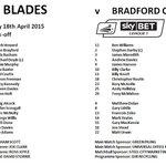 Blades v Bantams... confirmed teamsheet in @SkyBetLeague1... #twitterblades http://t.co/QYKHBdBL0Q