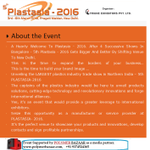 5th #Plastasia-2016 Gets Bigger And Better By Shifting Venue To New Delhi. Click:http://t.co/Orrott8cS0  http://t.co/CdopYhUFyo