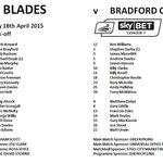 #sufc v Bradford teams. http://t.co/locZtEG20X