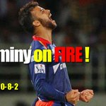 RT @cricketnext: #IPL8: Brilliant spell by captain @jpduminy21! LIVE: http://t.co/3CUtypy78y  #SRHvsDD http://t.co/c6VpeXpqpl