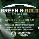 GAMEDAY! It feels good to say that again. Spring game kicks off at 11:30 am, but festivities begin at 10. Be there! http://t.co/gevLYbSmQ8