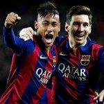"""@neymarjr: Que Deus nos abençoe e nos proteja 🙏⚽ http://t.co/57srYi6Ztq"" Con estos 2 mas Luisito Arrasamos a quién sea.Forza Barça..."