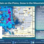 Snow in mountains, rain & chance of thunderstorms for plains today. Highs in 50s for Denver, 30s for moutains. #cowx http://t.co/lL2j0jReAB