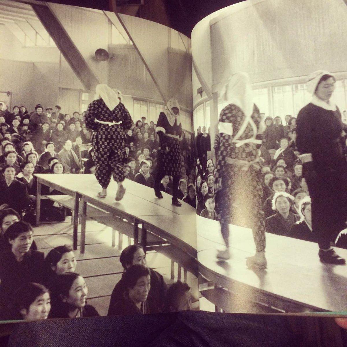 この「農協婦人部による改良作業着ファッションショー」昭和30。って何回見ても飽きない良い写真だと思います! http://t.co/TNMOSMrkKS