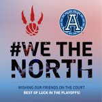 """Hey @Raptors, best of luck in Game 1 today! Cant wait to watch the """"it"""" factor in playoff form! #WeTheNorth #NBA http://t.co/Kw0yiEHODx"""
