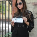 RT @Tolly_Planet: .Spotted : #RaimaSen @raimasen after casting vote for #KMC2015 elections in Kolkata #RT Must :)