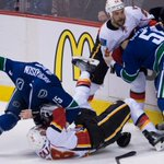 Line brawl takes Canucks-Flames playoff rivalry to next level: http://t.co/KjkGHEJOBc #NHLPlayoffs http://t.co/8UUhSMt0kf