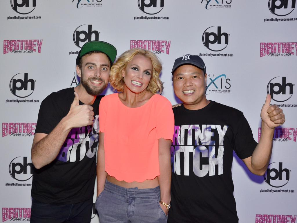 Matt Stopera (@mattstopera): BROTHER ORANGE, ME, AND A LIVING LEGEND @britneyspears THANK YOU @phvegas FOR MAKING DREAMS COME TRUE!!! http://t.co/G8LsBgZx9z