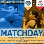 MATCHDAY: Saints Tennis hosts @mlcknights at 2pm. Men at Marshall, Women at Arrowhead. #SaintsRiseUp http://t.co/MyMXGLjd28