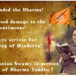 #धर्म_योद्धा_SubramanianSwamy opposed consipracy against hindu saints Asaram Bapu Ji,Sadhvi Pragya,Shankarachary Ji. http://t.co/spSFvVjYhf