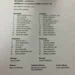 Here are your confirmed lineups for #RFCvAFC... http://t.co/BON6NpgfKJ