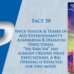 RT @onlynikil: Did You Know Facts! #VaiRajaVai Fact #5  @ash_r_dhanush @archanakalpathi