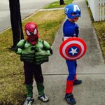 Our little Avengers are ready for @Calgaryexpo ! @Lindseywitz http://t.co/112Gv55ZV0
