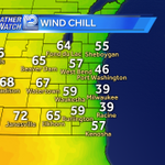 """There is a 33° spread in the """"feels like"""" temperature between #Milwaukee and #Janesville http://t.co/WabRsMBpWR"""