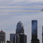 Flying high over the Louisville skyline during #ThunderOverLouisville : Dont mind if they do. #kyderby2015 http://t.co/AHWIj9D0ZD