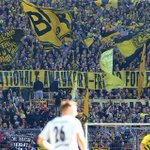 Dortmunds fans til kamp mod dansk awaykort #sldk http://t.co/jbj1oebevZ