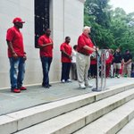 Team captains about to be cemented at Denny Chimes. #RollTide #BuiltByBama #ADay2015 http://t.co/YWi0LSCv5b