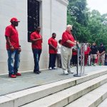 Team captains about to be cemented at Denny Chimes. #RollTide #BuiltByBama #ADay2015 by alabamafbl #RollTide http://t.co/0aw7b6dOHu