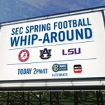 All the action. All. In. One. Place. The #SEC Spring Football Whip-Around Show (2 PM ET) on the SECN Alt Channel. http://t.co/2NHjDcqxpQ