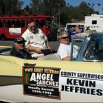 Great morning for a parade! Proud to ride with my WWII vet friend in the Salute To Veterans Parade in Riverside. http://t.co/wAKnFpAFlh