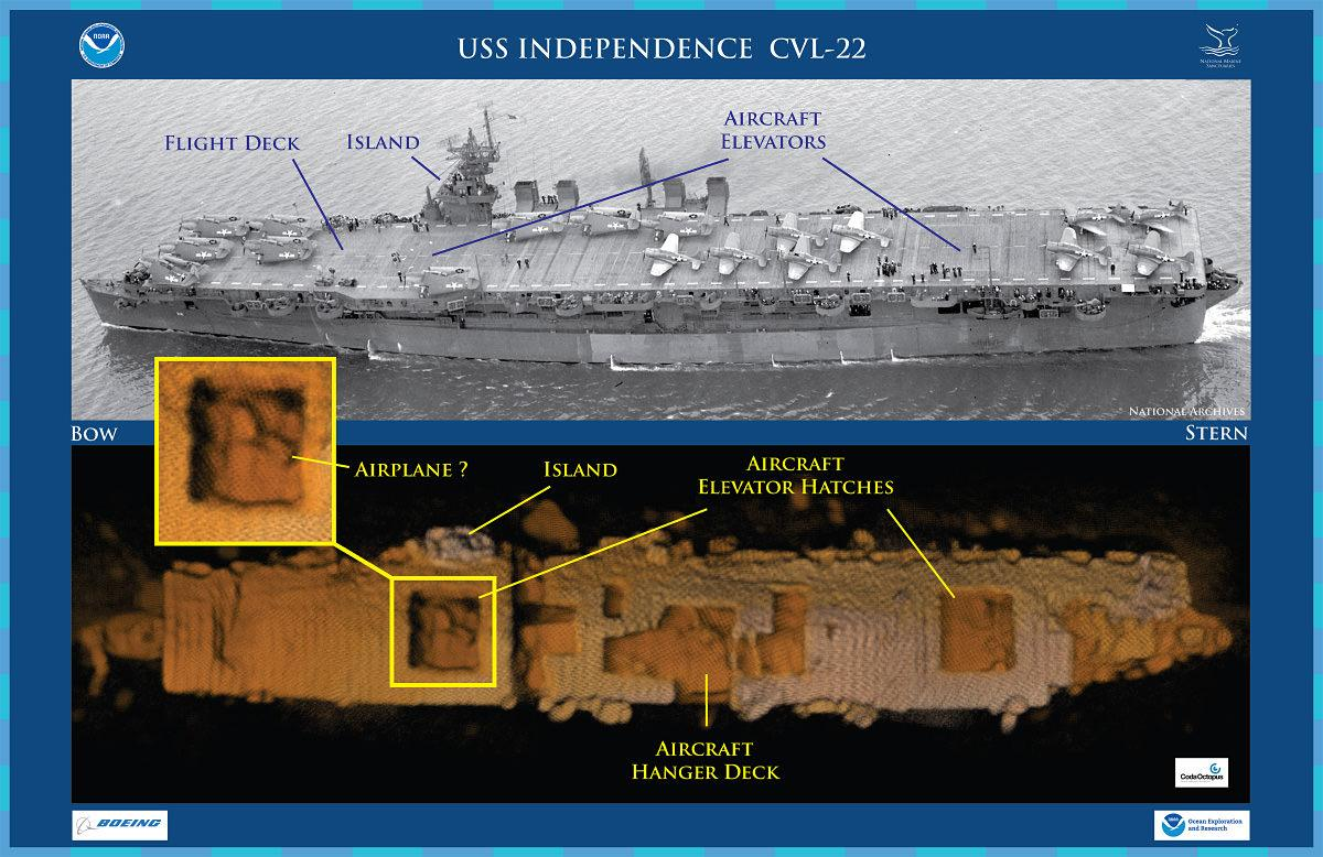 Sunken hulk of nuke-blasted aircraft carrier USS Independence located off San Francisco coast http://t.co/1LtPSQ8Rz4 http://t.co/8yiTaAcOv6