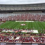 WE ARE LIVE: Inside Bryant Denny Stadium for 2015 A-DAY! Stay tuned for up to date info throughout the game http://t.co/lddIGRNyYU