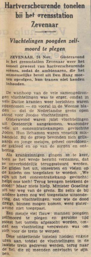 Toch denken aan lekke bootjes Rt @marktraa 1938: Nederland stuurt wanhopige joodse vluchtelingen terug nr Duitsland. http://t.co/NWtXmWpZ16