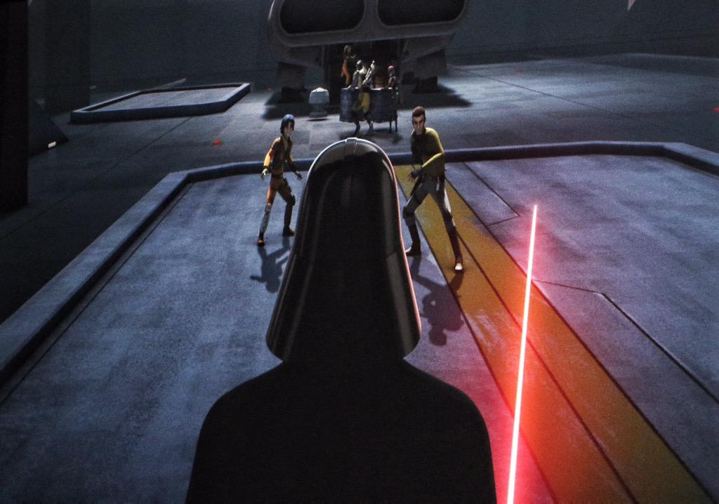 """I'm not afraid."" ""That's what worries me."" #StarWarsRebels S2 promises epic action... and a lot more #Vader. #SWCA http://t.co/d2anFgdUDV"