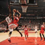 What a game! Wizards and Raptors are going to OT. This is the first OT playoff game in Torontos history. http://t.co/lqG9jxa38r