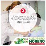 ???? Proponemos: Consolidar el servicio de especialidades médicas en el estado. #ConTodoParaTodos http://t.co/fZ96lHeFRx