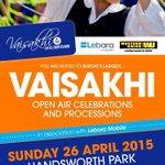 #Birmingham Vaisakhi Celebration Handsworth Park 26 Apr 2015 11am-6.30pm. Join Europes largest open-air celebrations http://t.co/KfLvt32onD