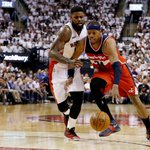 1st game of NBA playoffs is in the books. Wizards edge Raptors, 93-86. Paul Pierce drops 20 points. http://t.co/MTFtZnv1JD