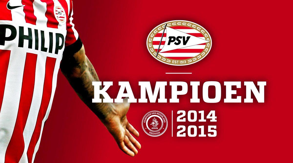 PSV IS LANDSKAMPIOEN! ALLE SUPPORTERS VAN HARTE GEFELICITEERD! #psv #onzetitel #eendrachtmaaktmacht http://t.co/5lJVmUO9WI